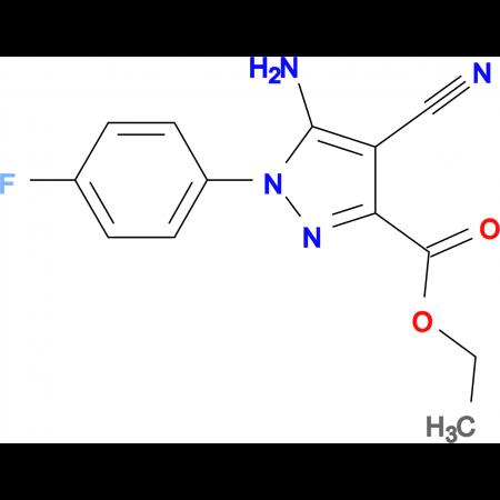 Ethyl 5-amino-4-cyano-1-(4-fluorophenyl)-1H-pyrazole-3-carboxylate