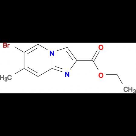 Ethyl 6-bromo-7-methylimidazo[1,2-a]pyridine-2-carboxylate