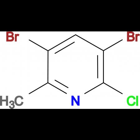3,5-Dibromo-2-chloro-6-methylpyridine