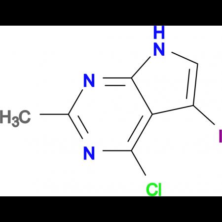 4-Chloro-5-iodo-2-methyl-7H-pyrrolo[2,3-d]pyrimidine