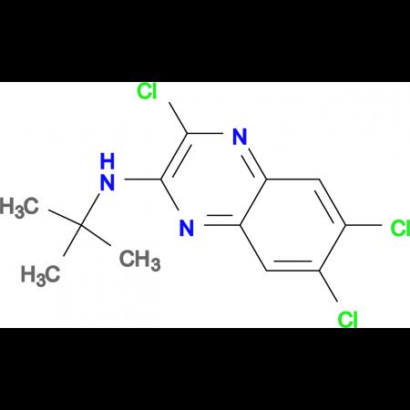 N-(tert-Butyl)-3,6,7-trichloroquinoxalin-2-amine