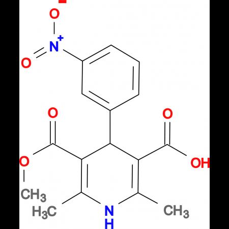 5-(Methoxycarbonyl)-2,6-dimethyl-4-(3-nitrophenyl)-1,4-dihydropyridine-3-carboxylic acid