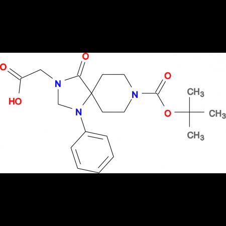 2-(8-(tert-Butoxycarbonyl)-4-oxo-1-phenyl-1,3,8-triazaspiro[4.5]decan-3-yl)acetic acid