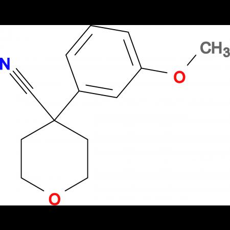 4-(3-Methoxyphenyl)oxane-4-carbonitrile