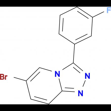 6-Bromo-3-(3-fluorophenyl)-[1,2,4]triazolo[4,3-a]pyridine