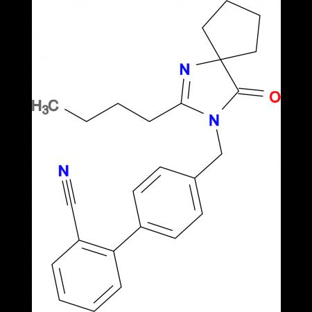 4'-((2-Butyl-4-oxo-1,3-diazaspiro[4.4]non-1-en-3-yl)methyl)-[1,1'-biphenyl]-2-carbonitrile