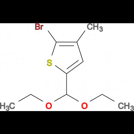 2-Bromo-5-(diethoxymethyl)-3-methylthiophene