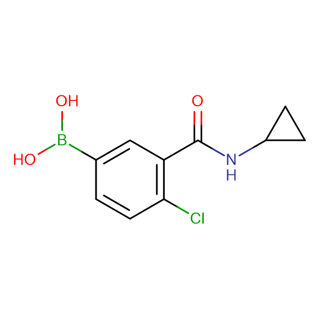 (4-Chloro-3-(cyclopropylcarbamoyl)phenyl)boronic acid