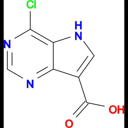 4-Chloro-5H-pyrrolo[3,2-d]pyrimidine-7-carboxylic acid