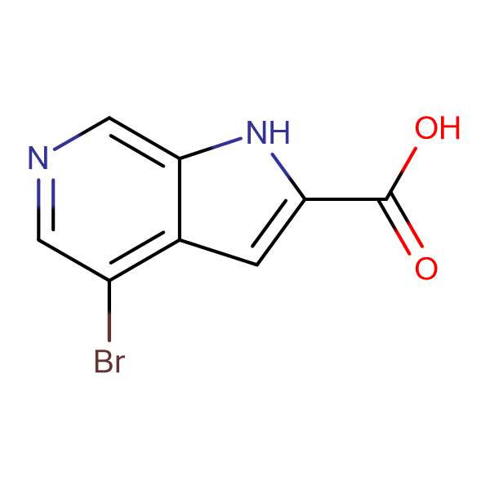4-Bromo-1H-pyrrolo[2,3-c]pyridine-2-carboxylic acid