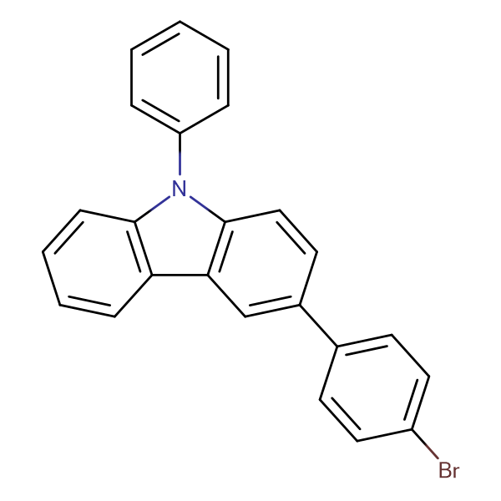 3-(4-Bromophenyl)-9-phenyl-9H-carbazole
