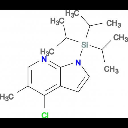 4-Chloro-5-methyl-1-(triisopropylsilyl)-1H-pyrrolo[2,3-b]pyridine