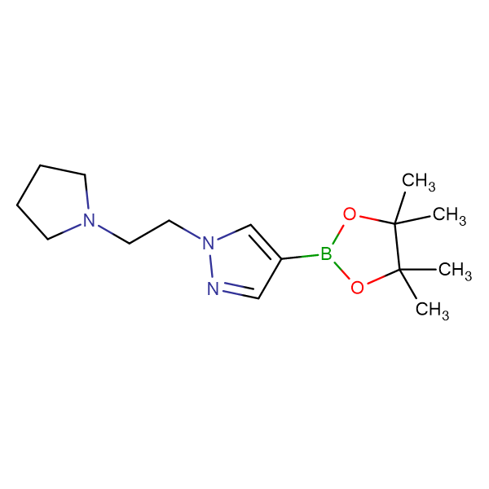1-[2-(1-Pyrrolidinyl)ethyl]-4-(4,4,5,5-tetramethyl-1,3,2-dioxaborolan-2-yl)-1H-pyrazole
