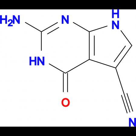2-Amino-4-oxo-4,7-dihydro-3H-pyrrolo[2,3-d]pyrimidine-5-carbonitrile