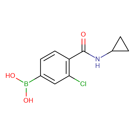 (3-Chloro-4-(cyclopropylcarbamoyl)phenyl)boronic acid