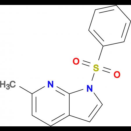 6-Methyl-1-(phenylsulfonyl)-1H-pyrrolo[2,3-b]pyridine