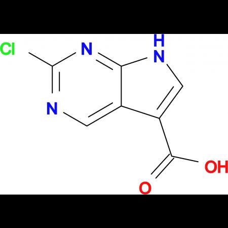 2-Chloro-7H-pyrrolo[2,3-d]pyrimidine-5-carboxylic acid