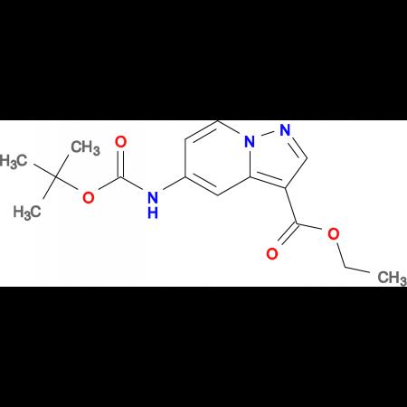 Ethyl 5-((tert-butoxycarbonyl)amino)pyrazolo[1,5-a]pyridine-3-carboxylate