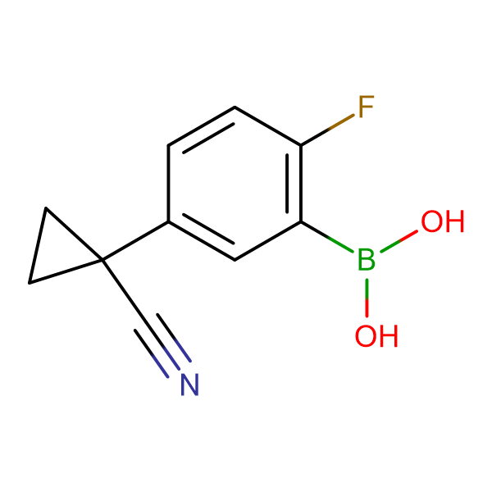 (5-(1-Cyanocyclopropyl)-2-fluorophenyl)boronic acid