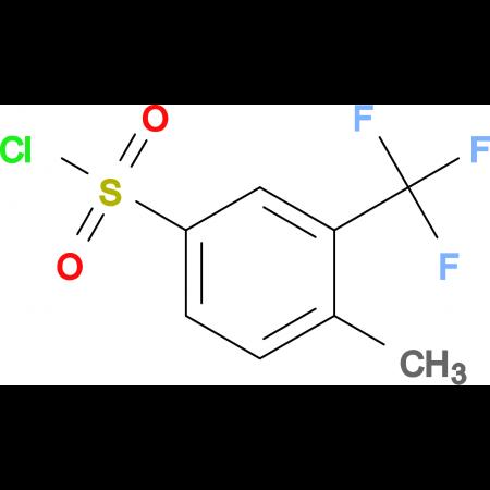 4-Methyl-3-(trifluoromethyl)benzene-1-sulfonyl chloride