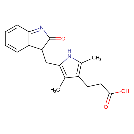 (Z)-3-(2,4-Dimethyl-5-((2-oxoindolin-3-ylidene)methyl)-1H-pyrrol-3-yl)propanoic acid