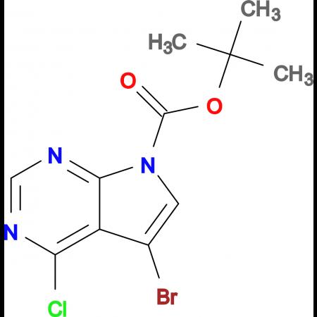 tert-Butyl 5-bromo-4-chloro-7H-pyrrolo[2,3-d]pyrimidine-7-carboxylate