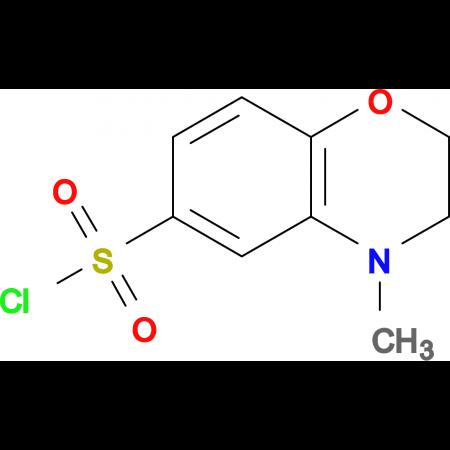 4-Methyl-3,4-dihydro-2H-benzo[b][1,4]oxazine-6-sulfonyl chloride