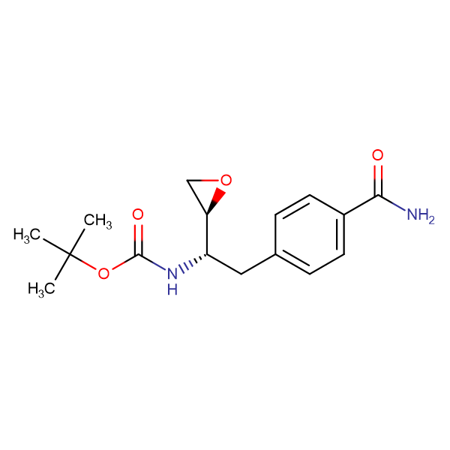 tert-Butyl ((S)-2-(4-carbamoylphenyl)-1-((S)-oxiran-2-yl)ethyl)carbamate