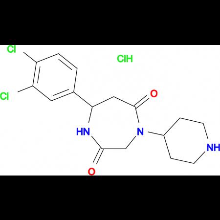 7-(3,4-dichlorophenyl)-4-piperidin-4-yl-1,4-diazepane-2,5-dione hydrochloride
