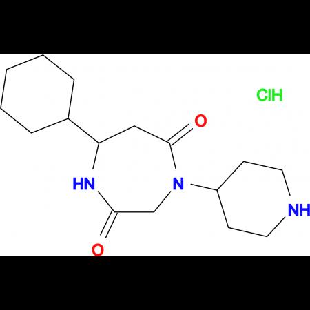 7-cyclohexyl-4-piperidin-4-yl-1,4-diazepane-2,5-dione hydrochloride