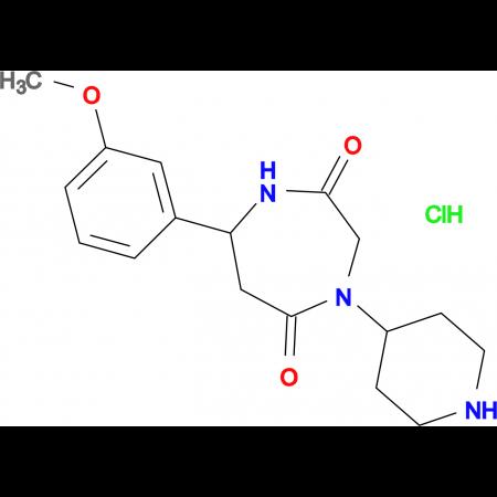 7-(3-methoxyphenyl)-4-piperidin-4-yl-1,4-diazepane-2,5-dione hydrochloride