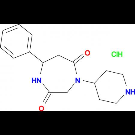 7-phenyl-4-piperidin-4-yl-1,4-diazepane-2,5-dione hydrochloride