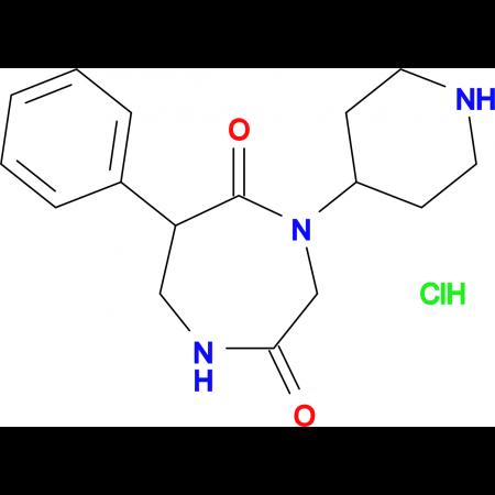 6-phenyl-4-piperidin-4-yl-1,4-diazepane-2,5-dione hydrochloride