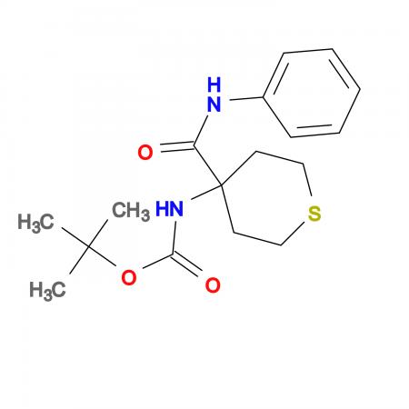 tert-butyl 4-(anilinocarbonyl)tetrahydro-2H-thiopyran-4-ylcarbamate
