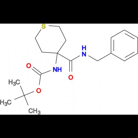 tert-butyl 4-[(benzylamino)carbonyl]tetrahydro-2H-thiopyran-4-ylcarbamate
