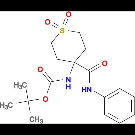 tert-butyl 4-(anilinocarbonyl)-1,1-dioxidotetrahydro-2H-thiopyran-4-ylcarbamate