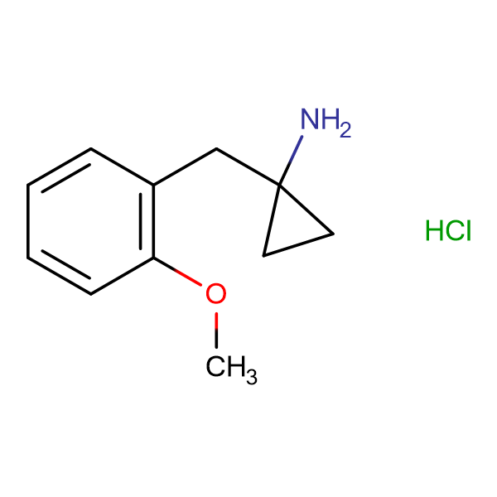 1-(2-methoxybenzyl)cyclopropanamine hydrochloride