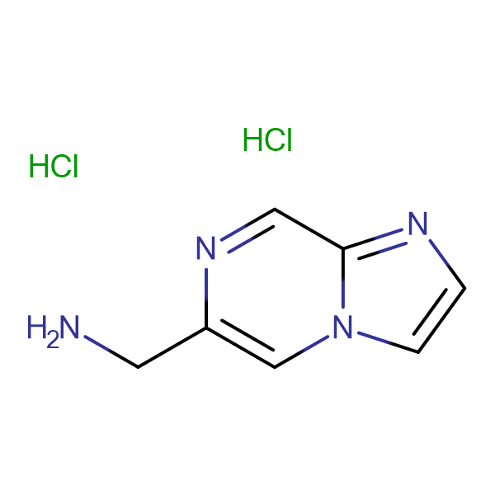 6-AMINOMETHYL-IMIDAZO[1,2-A]PYRAZINE 2HCL