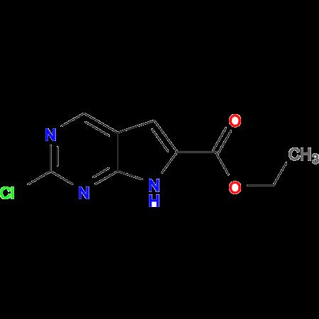 ETHYL 2-CHLORO-7H-PYRROLO[2,3-D]PYRIMIDINE-6-CARBOXYLATE