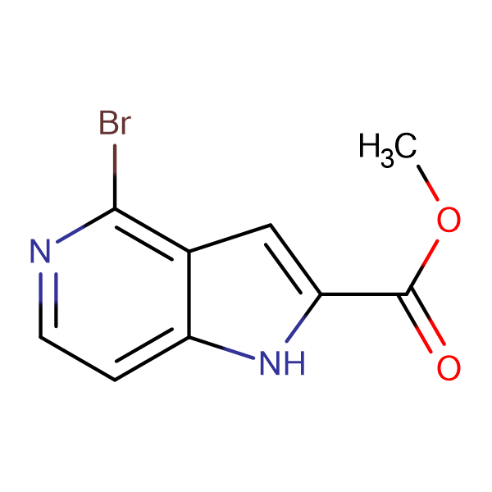 METHYL 4-BROMOPYRROLO[3,2-C]PYRIDINE-2-CARBOXYLATE