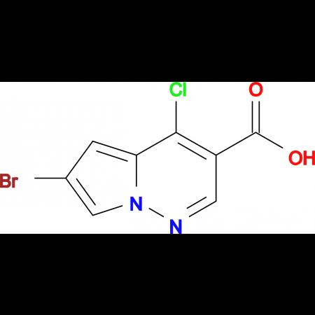 6-BROMO-4-CHLOROPYRROLO[1,2-B]PYRIDAZINE-3-CARBOXYLIC ACID