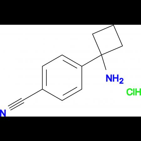 4-(1-AMINOCYCLOBUTYL)BENZONITRILE HCL
