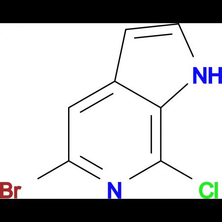 5-BROMO-7-CHLORO-1H-PYRROLO[2,3-C]PYRIDINE