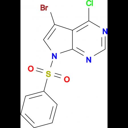 5-BROMO-4-CHLORO-7-(PHENYLSULFONYL)-7H-PYRROLO[2,3-D]PYRIMIDINE