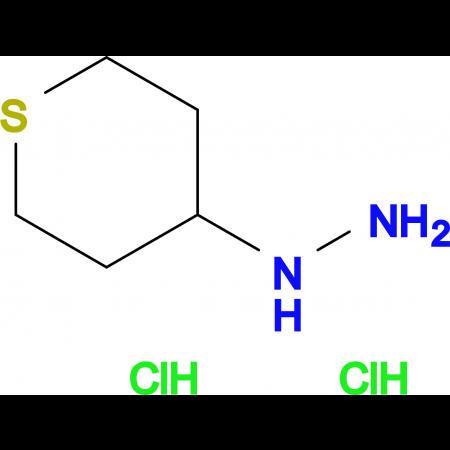 1-(TETRAHYDRO-2H-THIOPYRAN-4-YL)HYDRAZINE 2HCL