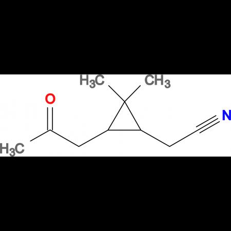 [2,2-dimethyl-3-(2-oxopropyl)cyclopropyl]acetonitrile