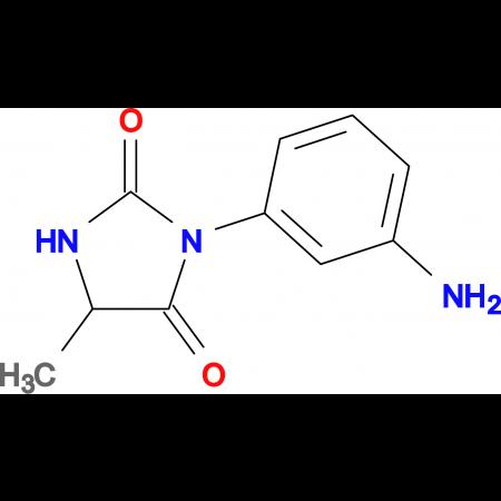 3-(3-aminophenyl)-5-methylimidazolidine-2,4-dione
