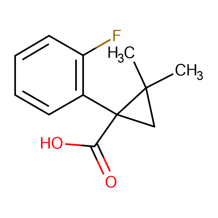 1-(2-fluorophenyl)-2,2-dimethylcyclopropanecarboxylic acid