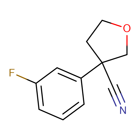 3-(3-fluorophenyl)tetrahydro-3-furancarbonitrile