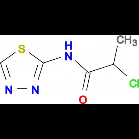 2-chloro-N-1,3,4-thiadiazol-2-ylpropanamide
